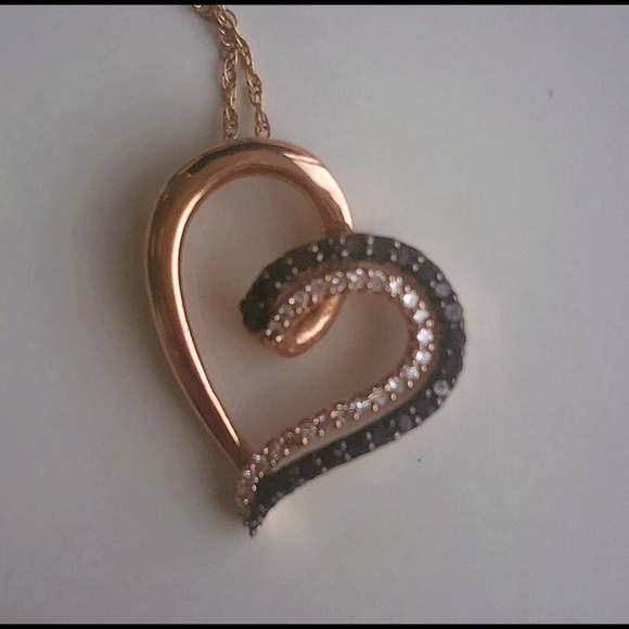 ca390dfd5 Jared's Jewelry Jewelry | Diamond Heart Necklace 14 Ct Tw Bw 10k ...